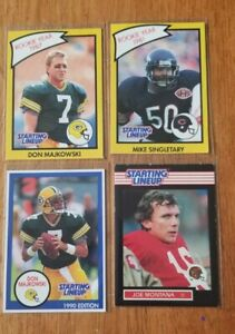 1989-90 Kenner SLU Starting Lineup Football Card Lot Joe Montana  Singletary