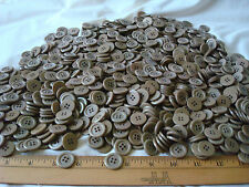 "2 Lbs~POUNDS BUTTONS~KHAKI~TAN~.75""~Vintage~Quilting~Sewing~Crafts~Jewelry"