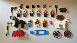 LEGO SYSTEM CASTLE MOYEN-ÂGE LOT DE SOLDATS ET CHEVAUX