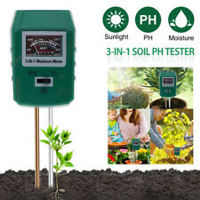More details for 3 in 1 digital soil meter ph water moisture light garden flower plant test metco