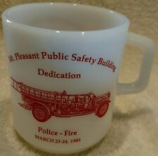 Mt Pleasant MI Public Safety Building Dedication Coffee Mug 1985 Police Fire Dep