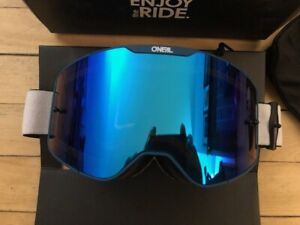 ONEAL B-20 PLAIN GOGGLE TEAL/RED RADIUM BLUE MTB DH MOUNTAIN BIKE VELO