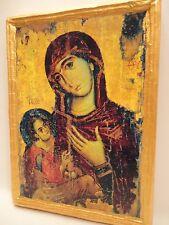 Virgin Mary Jesus Christ Mount Sinai Rare Catholic & Orthodox Wooden Icon