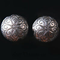 10pcs 18mm Charms Flower Style Spacer Beads Round Tibet Silver DIY Jewelry A7689