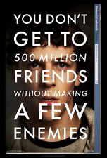 THE SOCIAL NETWORK Movie POSTER 27x40 Jesse Eisenberg Andrew Garfield