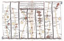 Antique map, The Road from London to Flamborough plate 041
