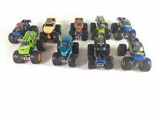 Lot of 9 Hot Wheels Monster Jam 1:64 Scale Trucks Diecast