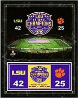 "LSU Tigers 2019 BCS National Champions Wood Plaque (Size: 12"" x 15"")"