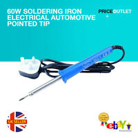 60W Soldering Iron Electrical Automotive Pointed Tip UK Plug D38