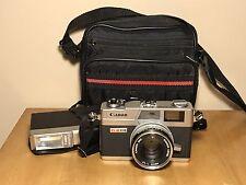 Canon Canonet GIII QL17 Camera + 40mm 1:1.7 Great lens + Extras VINTAGE