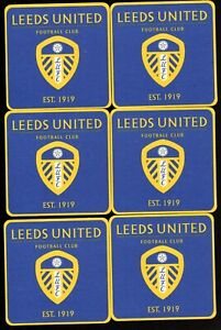 LEEDS UNITED F.C. Pack of Official Crested Beer Mats Coasters FREE POST UK