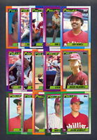 1990 Topps Philadelphia Phillies TEAM SET (32) w/Traded