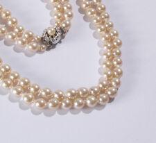 Halskette Perlenkette Kette Strass kristall Glasperlen elegant modern silber neu