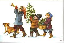 RARE MINT Tasha Tudor Vintage Christmas Card Heritage Art Guild Card #P448 corgi