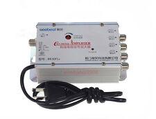 4 way CATV TV VCR Antenna Signal Amplifier Booster Splitter