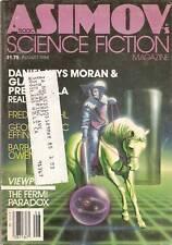 Asimov Sf Aug 1984 84 Effinger Gardner Prebehalla Pohl