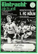 BL 81/82 Eintracht Braunschweig - 1. FC Köln