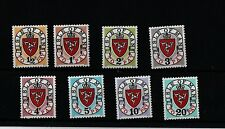 ISLE OF MAN 1973 POSTAGE DUE SET without letter A   SG D1 - D8 MNH superb