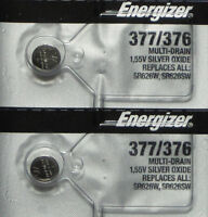 2 x FRESH Energizer 377 376 WATCH BATTERY SR626SW SR626W Silver Oxide Battery
