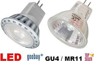 GU4/MR11 Illuminant LED 1,6 - 2W Warm White/White 12V / Halogen 20W 35W