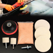 "120g Cerium Oxide Glass Polishing Kit Windscreen Scratch Remover Felt + 3"" Pads"