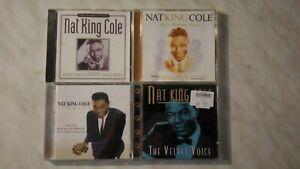 4 CD NAT KING COLE VELVET VOICE SINGLES LET'S FALL IN LOVE UNFORGETTABLE
