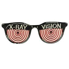 X-RAY VISION GLASSES PATCH EMBROIDERED SEW ON / IRON ON PATCH BY RETRO-A-GO-GO