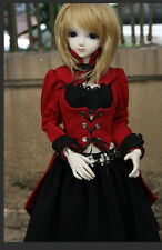 Red&Black Uniform Dress for 1/4 1/3 Large Girl BJD Doll SD Clothes CW22