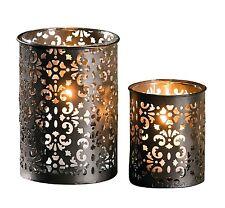 Teelichthalter Kerzenhalter Laterne Deko Set 2er Windlicht Metall Orientalisch