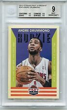 2012-13 PAST & PRESENT #243 ANDRE DRUMMOND ROOKIE RC, PISTONS - BGS 9 (28471)