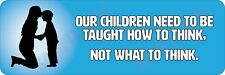 How to Think - Not What to Think V3 Bumper sticker
