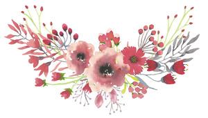 Large flower bouquet sticker floral decal watercolour boho bohemian wildflowers