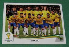 N°33 EQUIPE TEAM BRESIL BRASIL PANINI FOOTBALL FIFA WORLD CUP BRAZIL 2014 BRASIL