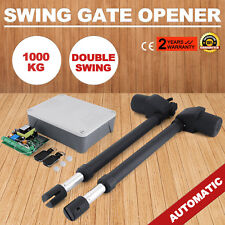 Automatic Electric Powered Swing Gate Opener Kit Double Actuator Remote Control