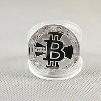 For 2018 Silver Plated Commemorative Bitcoin Collectible Golden Iron Miner Coin