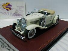 """GLM 151001 # DUESENBERG MODEL J SWB Cabriolet Année Modèle 1929 in """"BLANC"""" 1:43 NEUF"""