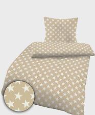 Bettwäsche 135x200 cm Sterne sand beige 1855 BIBER