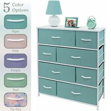 Nightstand Chest 8 Drawers Bedside Dresser Furniture for Bedroom Office Organize