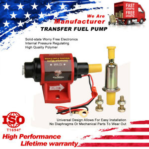 12V Low Pressure 42 GPH Universal Micro Electric Fuel Pumps 42S Polymer Gasoline