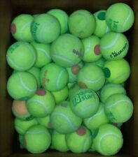 25 USED TENNIS BALLS - DEAD-DOG TOYS - OTHER (GREEN-RED DOT) ACCEPTABLE -