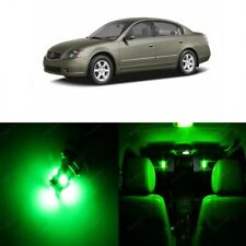 12 x Green LED Interior Light Package For 2002 - 2006 Nissan Altima + PRY TOOL