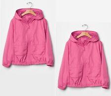NWT Gap Kids Girl's Hooded Zip Up Windbreaker Jackets Pink Size XXL