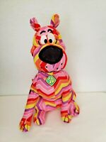 "Scooby-Doo 12"" Plush Stuffed Animal Toy Factory Pink Yellow Red Zig Zag Chevron"