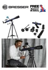 Bresser Skylux 70/700 Refractor Telescope 70mm Smartphone holder & free software