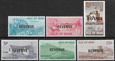 Isle of Man 1966 Revenues 5d - £2 [6] Surcharged set MNH.
