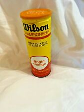 Vintage- Wilson Tennis Balls tin unused Championship Bright Orange