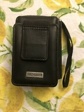 Harley-Davidson Black Leather Zipper Closure Wallet Belt Attach - Cigarette Hold