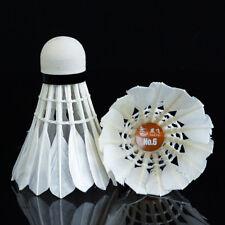 12x Badminton Boules Plume Blanc Volants Jeu Sports Entrainement Formation Mode