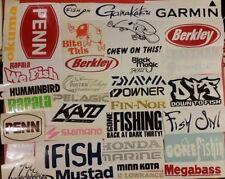 Skeleton Fish Boat Decal Diecut vinyl adhesive sticker 30x14cm Mirrored Pair