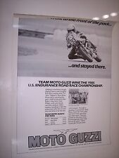 "Team Moto Guzzi 1985 U.S. Endurance Road Race - Motorcycle Poster 22"" X 29 1/2"""